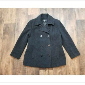 Calvin Klein Pea Coat Wool Blend Double Breasted